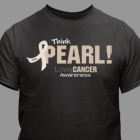 Think Pearl - Lung Cancer Awareness Personalized T-shirt 33737X