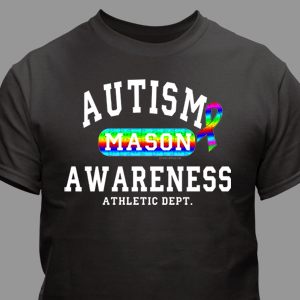 Personalized Autism Awareness Athletic Dept. T-Shirt