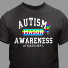 Personalized Autism Awareness Athletic Dept. T-Shirt 34087X