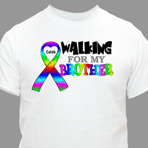Personalized Walking For Autism T-Shirt