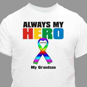 Personalized My Hero Autism Awareness T-Shirt