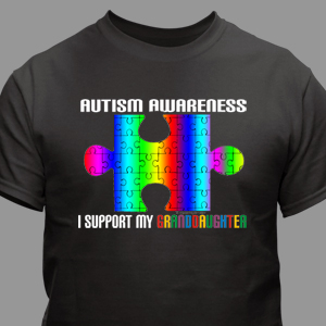 Personalized I Support Autism Awareness T-Shirt
