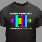 Personalized Autism Support T-Shirt 34094X