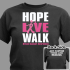 Personalized Breast Cancer Walk T-Shirt 34101X