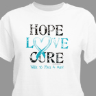 Hope Love Cure Awareness Personalized T-shirt 34107X