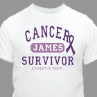 Cancer Survivor Athletic Dept. - Choose Your Color Personalized T-Shirt 34117X
