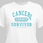 Cancer Survivor Athletic Dept. - Ovarian Cancer Awareness Personalized T-shirt 34137X