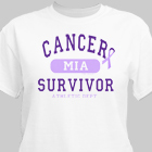 Cancer Suvivor Athletic Dept. - Cancer Awareness Personalized T-shirt 34140X