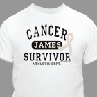 Cancer Survivor Athletic Dept. Personalized T-Shirt 34147X