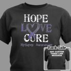 Personalized Hope Love Cure Epilepsy Awareness T-Shirt 34181X
