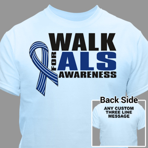Personalized Walk For ALS Awareness T-Shirt