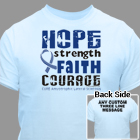 Personalized Walk For ALS Awareness T-Shirt 34182X