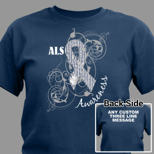 Personalized ALS Awareness Ribbon T-Shirt