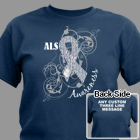 Personalized ALS Awareness Ribbon T-Shirt 34185X