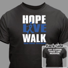 Hope Live Walk Colon Cancer Awareness T-Shirt 34240X