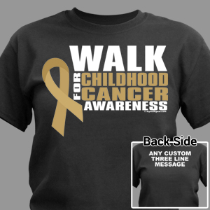 Personalized Walk for Childhood Cancer Awarness T-Shirt