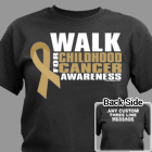 Personalized Walk for Childhood Cancer Awarness T-Shirt 34243X