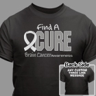 Find A Cure Brain Cancer Awareness T-Shirt 34388X