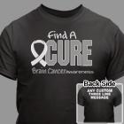 Find A Cure Brain Cancer Awareness T-Shirt 34388X