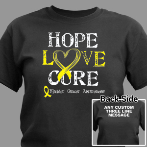 Hope Love Cure Bladder Cancer T-Shirt