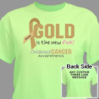Gold Is The New Pink Childhood Cancer T-Shirt 34447X
