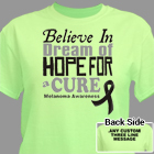 Believe In A Cure Melanoma Awareness T-Shirt 34478X