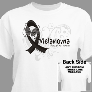 Melanoma Awareness Ribbon T-Shirt