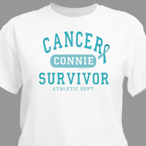 Cervical Cancer Survivor Athletic Dept. Awareness T-Shirt