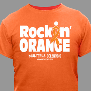 MS Awareness T-Shirt - Rockin' Orange