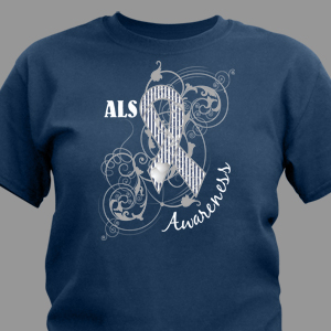 ALS Awareness Ribbon T-Shirt