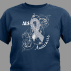 ALS Awareness Ribbon T-Shirt 35843x
