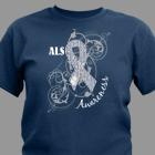 ALS Awareness Ribbon T-Shirt 35843x