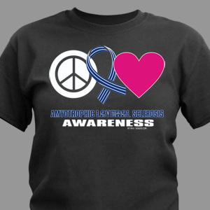 Peace Hope Love ALS Awareness T-Shirt