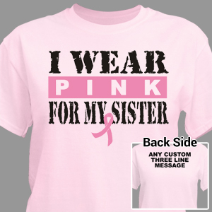 I Wear Pink Breast Cancer T-Shirt