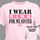 I Wear Pink Breast Cancer T-Shirt 37090X
