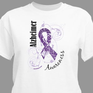 Alzheimer's Awareness Ribbon T-Shirt