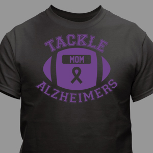 Tackle Alzheimer's T-Shirt black & Purple