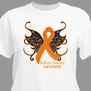 MS Butterfly Ribbon T-Shirt
