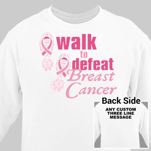 Personalized Walk to Defeat Breast Cancer Sweatshirt