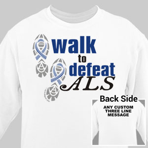 Personalized Walk to Defeat ALS Sweatshirt