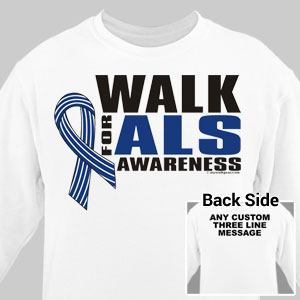 Personalized Walk for ALS Awareness Long Sleeve Shirt