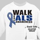 Personalized Walk for ALS Awareness Sweatshirt 54182X