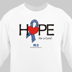 Hope For A Cure ALS Awareness Long Sleeve Shirt