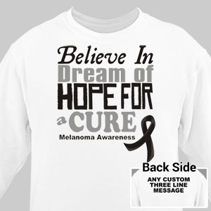 Believe In A Cure Melanoma Awareness Long Sleeve Shirt