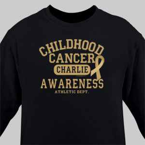 Childhood Cancer Awareness Athletic Dept. Long Sleeve Shirt