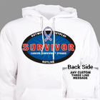 Cancer Survivor Hooded Sweatshirt H54225X