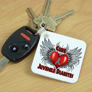 Cure Juvenile Diabetes Awareness Keychain