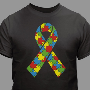 Puzzle Piece Ribbon T-Shirt