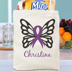 Butterfly Awareness Ribbon Tote Bag