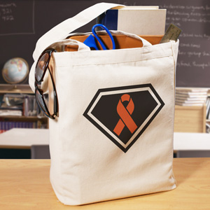 Super Awareness Ribbon Canvas Tote Bag
